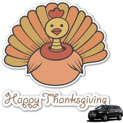 Thanksgiving Graphic Car Decal (Personalized)