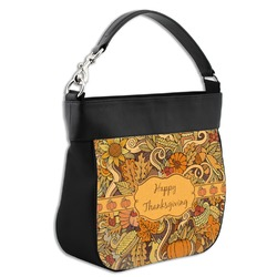 Thanksgiving Hobo Purse w/ Genuine Leather Trim (Personalized)