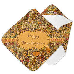 Thanksgiving Hooded Baby Towel (Personalized)
