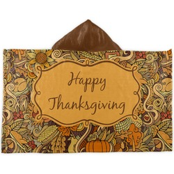 Thanksgiving Kids Hooded Towel (Personalized)