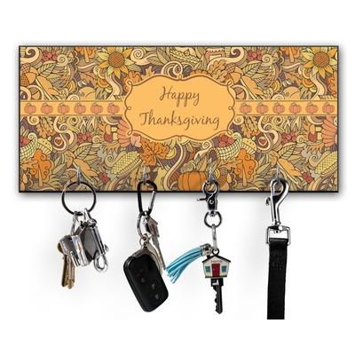 Thanksgiving Key Hanger w/ 4 Hooks w/ Name or Text