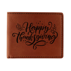 Thanksgiving Leatherette Bifold Wallet - Double Sided (Personalized)