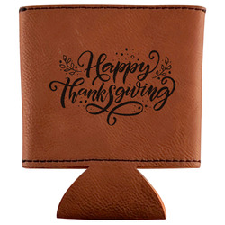 Thanksgiving Leatherette Can Sleeve (Personalized)