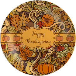 """Thanksgiving Melamine Plate - 8"""" (Personalized)"""