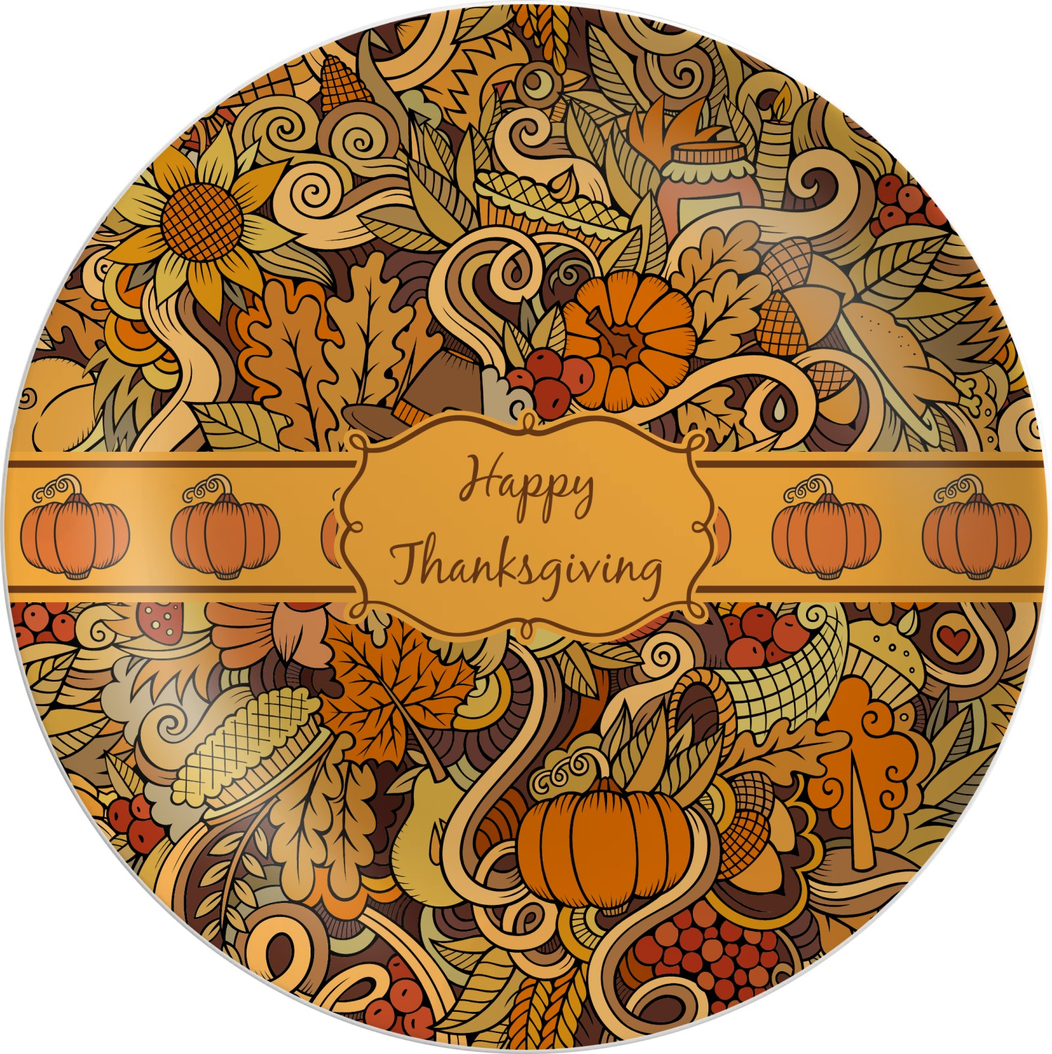 Thanksgiving Melamine Plate (Personalized)