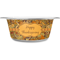 Thanksgiving Stainless Steel Dog Bowl (Personalized)