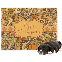 Thanksgiving Minky Dog Blanket (Personalized)