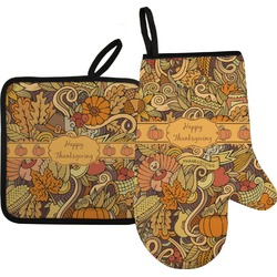 Thanksgiving Oven Mitt & Pot Holder (Personalized)