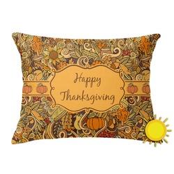 Thanksgiving Outdoor Throw Pillow (Rectangular) (Personalized)