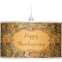Thanksgiving Drum Pendant Lamp (Personalized)