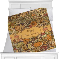 Thanksgiving Minky Blanket (Personalized)