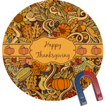 Thanksgiving Round Magnet (Personalized)