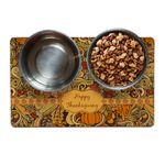 Thanksgiving Dog Food Mat (Personalized)