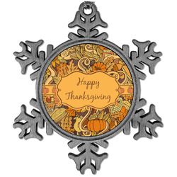 Thanksgiving Vintage Snowflake Ornament