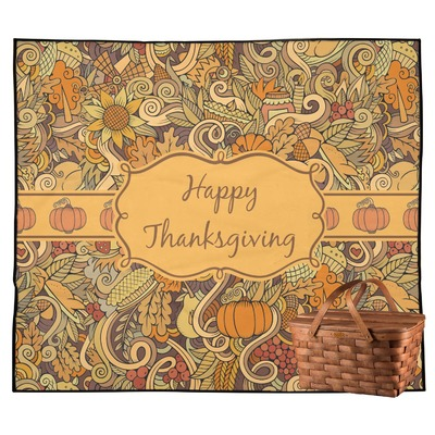 Thanksgiving Outdoor Picnic Blanket (Personalized)
