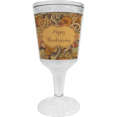 Thanksgiving Wine Tumbler - 11 oz Plastic (Personalized)