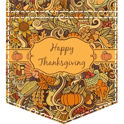 Thanksgiving Iron On Faux Pocket (Personalized)
