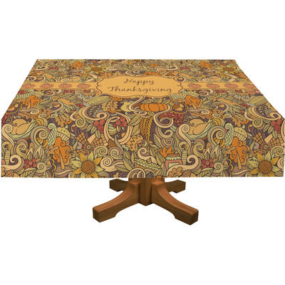 """Thanksgiving Tablecloth - 58""""x102"""" (Personalized)"""