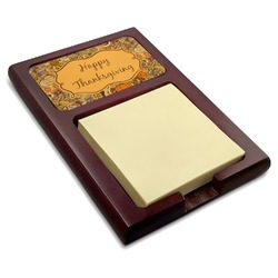 Thanksgiving Red Mahogany Sticky Note Holder (Personalized)