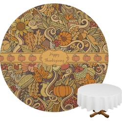 Thanksgiving Round Tablecloth (Personalized)
