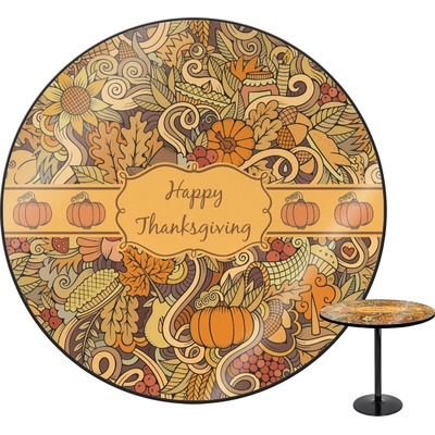Thanksgiving round table personalized youcustomizeit for How to set a round table for thanksgiving