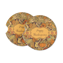 Thanksgiving Sandstone Car Coasters (Personalized)