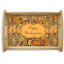 Thanksgiving Natural Wooden Tray (Personalized)