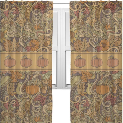 Thanksgiving Sheer Curtains (Personalized)