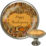Thanksgiving Cabinet Knob (Silver) (Personalized)