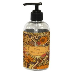 Thanksgiving Plastic Soap / Lotion Dispenser (8 oz - Small) (Personalized)