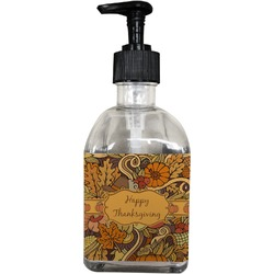 Thanksgiving Soap/Lotion Dispenser (Glass) (Personalized)