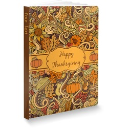 """Thanksgiving Softbound Notebook - 7.25"""" x 10"""" (Personalized)"""
