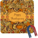 Thanksgiving Square Fridge Magnet (Personalized)