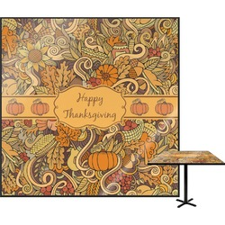 """Thanksgiving Square Table Top - 24"""" (Personalized)"""