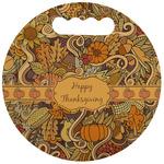 Thanksgiving Stadium Cushion (Round) (Personalized)