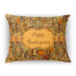 Thanksgiving Rectangular Throw Pillow Case (Personalized)