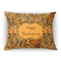 Thanksgiving Rectangular Throw Pillow Case (Personalized)