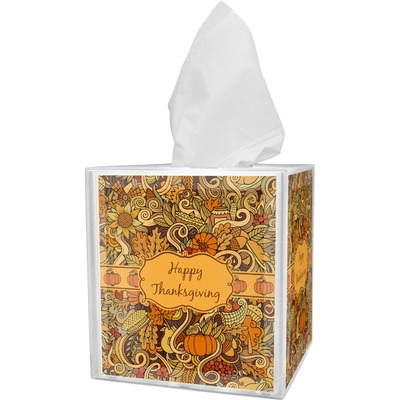 Thanksgiving Tissue Box Cover (Personalized)