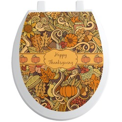 Thanksgiving Toilet Seat Decal (Personalized)
