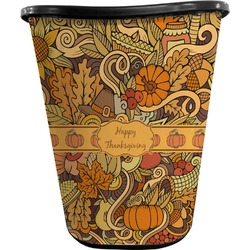 Thanksgiving Waste Basket - Double Sided (Black) (Personalized)