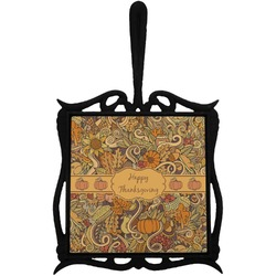 Thanksgiving Trivet with Handle (Personalized)