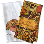 Thanksgiving Waffle Weave Kitchen Towel
