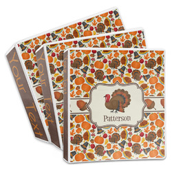 Traditional Thanksgiving 3-Ring Binder (Personalized)
