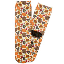 Traditional Thanksgiving Adult Crew Socks (Personalized)