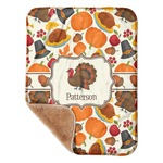 "Traditional Thanksgiving Sherpa Baby Blanket 30"" x 40"" (Personalized)"