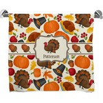 Traditional Thanksgiving Full Print Bath Towel (Personalized)