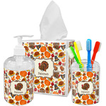 Traditional Thanksgiving Acrylic Bathroom Accessories Set w/ Name or Text