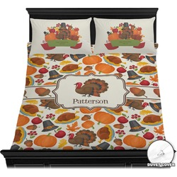 Traditional Thanksgiving Duvet Cover Set (Personalized)