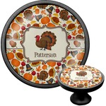 Traditional Thanksgiving Cabinet Knob (Black) (Personalized)