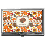 Traditional Thanksgiving Business Card Case